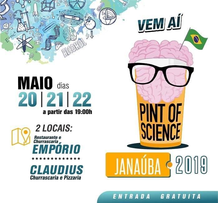 FESTIVAL INTERNACIONAL PINT OF SCIENCE OCORRERÁ NO NORTE DE MINAS