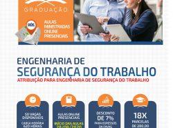 NOVA TURMA   PÓS-GRADUAÇÃO   ENGENHARIA DE SEGURANÇA DO TRABALHO